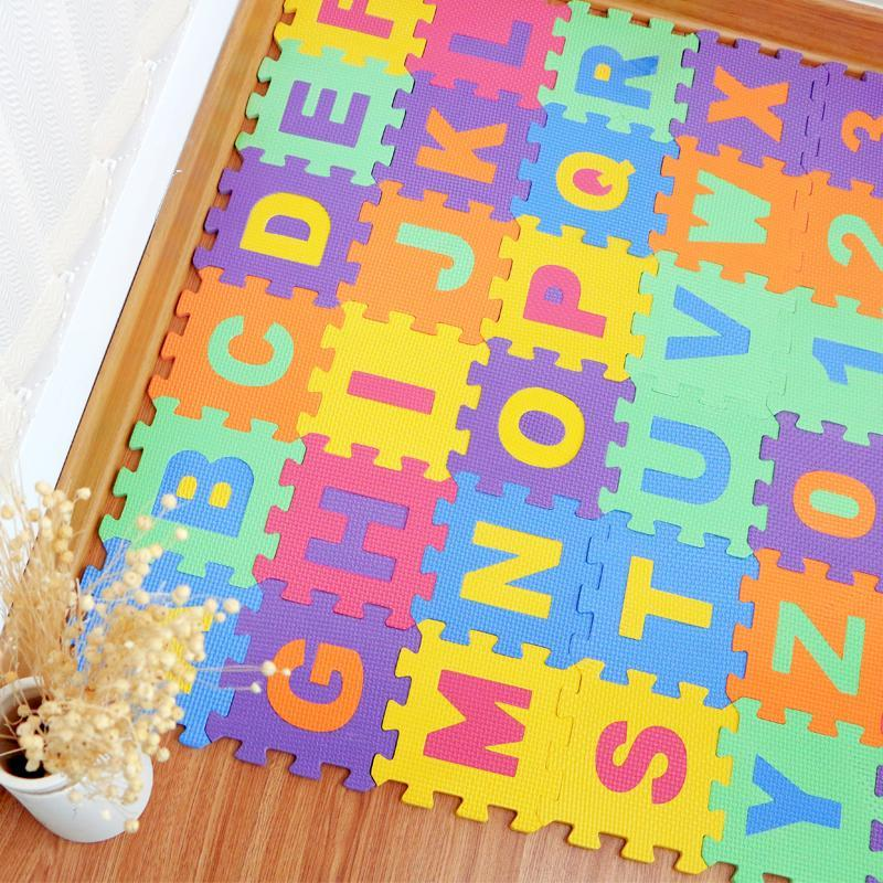 Nirvana Life Family Alphabet and Number Puzzle Play Mat