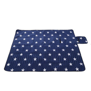 Nirvana Life Family Blue with Stars / 4.25' x 5.5' Outdoor Play-mat