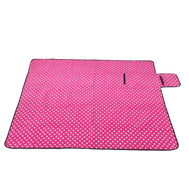 Nirvana Life Family Pink with Polka Dots / 5.5' x 6.5' Outdoor Play-mat