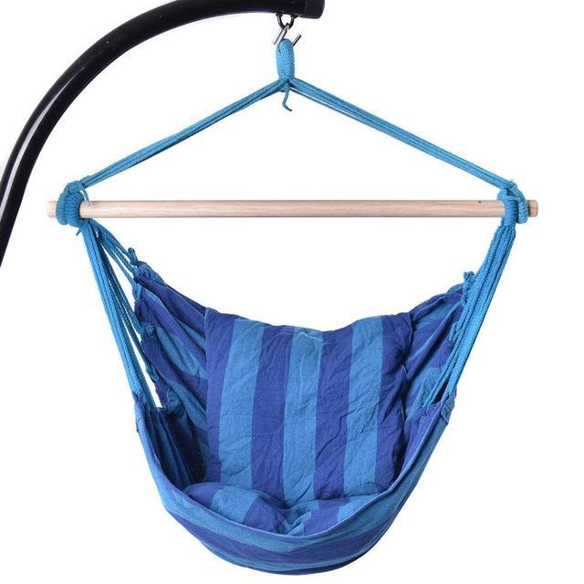 Nirvana Life Home Decor Ocean Blues Hanging Cotton Rope Hammock