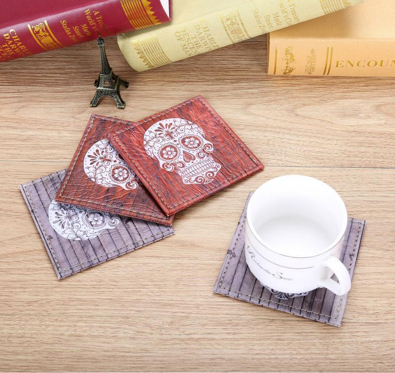 Nirvana Life Home Decor Sugar Skull Coasters