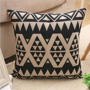 Nirvana Life pillows Geometric White and Black Decorative Pillows