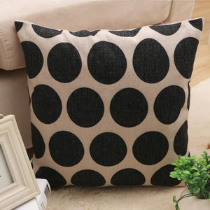 Nirvana Life pillows Spots White and Black Decorative Pillows