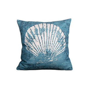 Nirvana Life pillows White Shell Under the Sea Handmade Linen Pillow Covers
