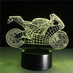 3D Motorcycle Lamp