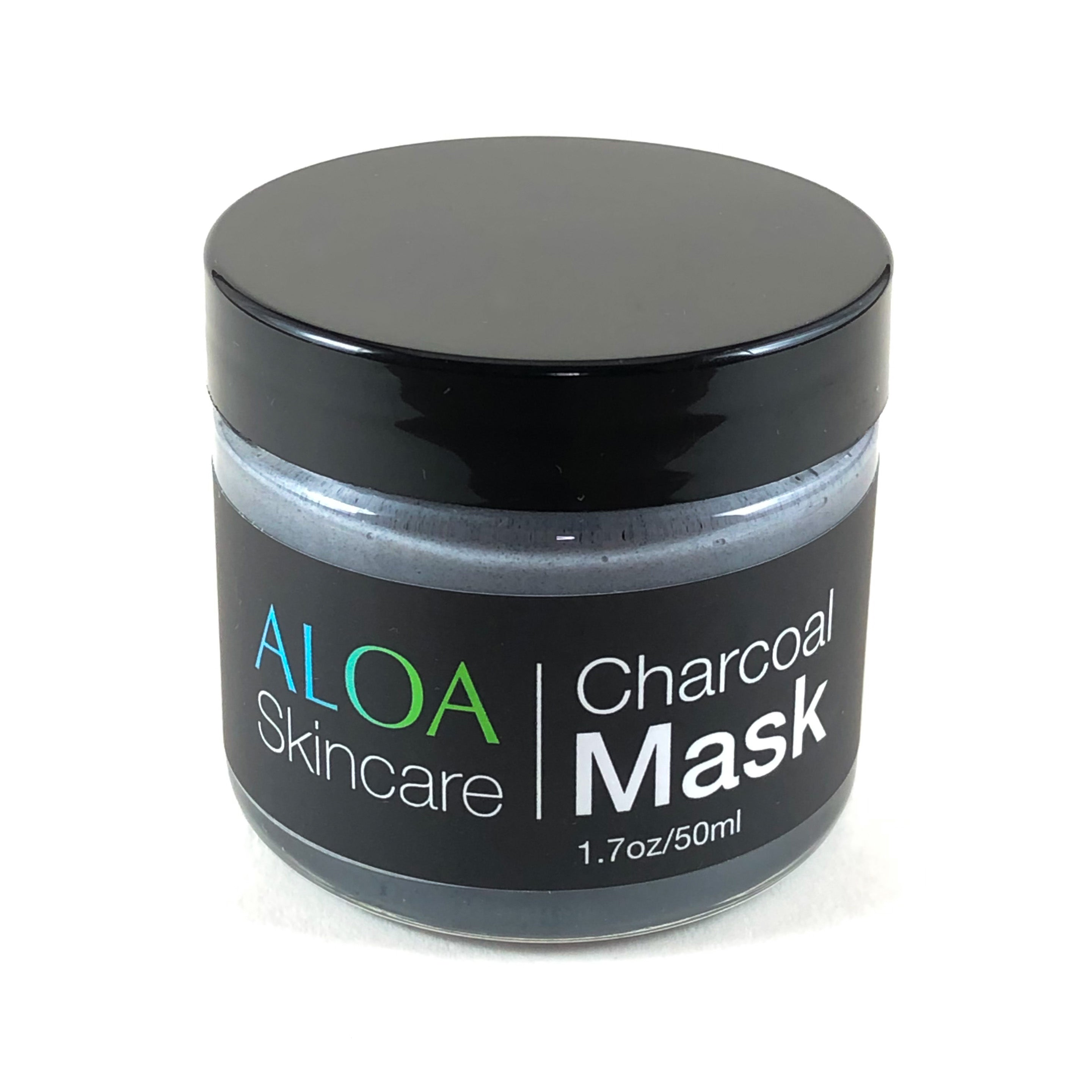 ALOA Skincare Activated Charcoal & Clay Face Mask for deep pore cleaning, detox and exfoliation - ALOA Skincare