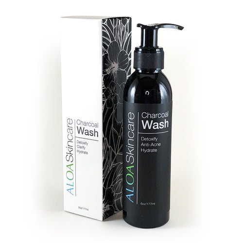 ALOA Skincare Activated Charcoal Face Wash with Green Tea & Vitamin C - ALOA Skincare