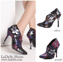 Pointy Toe- Purple Floral