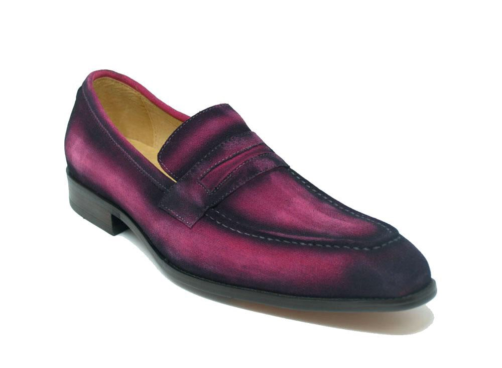 Men Leather Penny Loafer-Pink