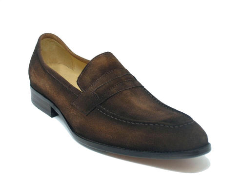 Men Leather Penny Loafer-Brown