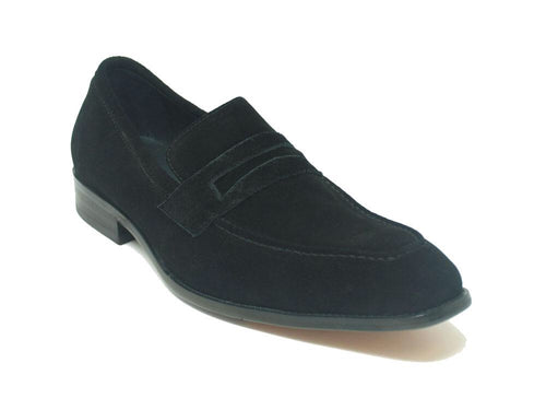 Men Leather Penny Loafer-Black