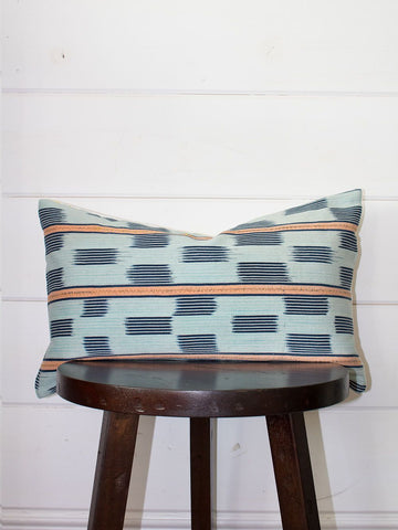 Sunset Lumbar Mud Cloth Throw Pillow B