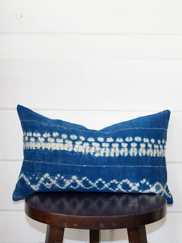 Tie-Dye Lumbar Mud Cloth Throw Pillow