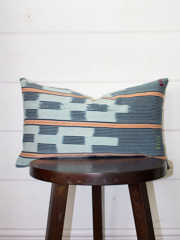 Sunset Lumbar Mudcloth Throw Pillow