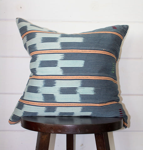 Sunset Mud Cloth Throw Pillow