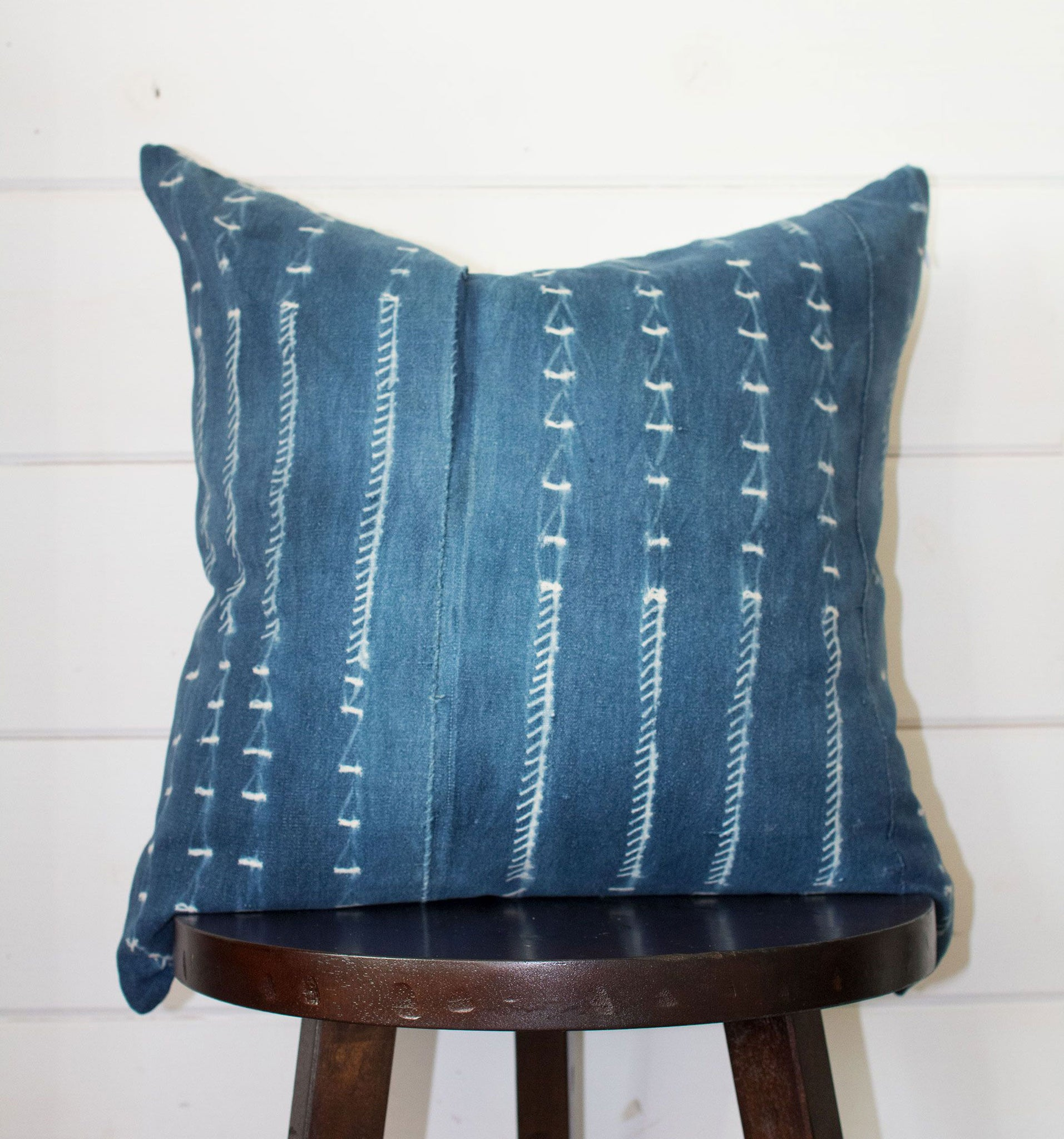 Indigo Mudcloth Throw Pillow