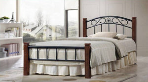Timber Iron Bed Frame - King Single