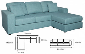 2 seater w/ reversible chaise