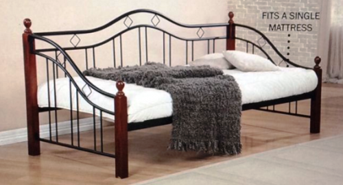 Timber Iron Day Bed - Single Bed Frame