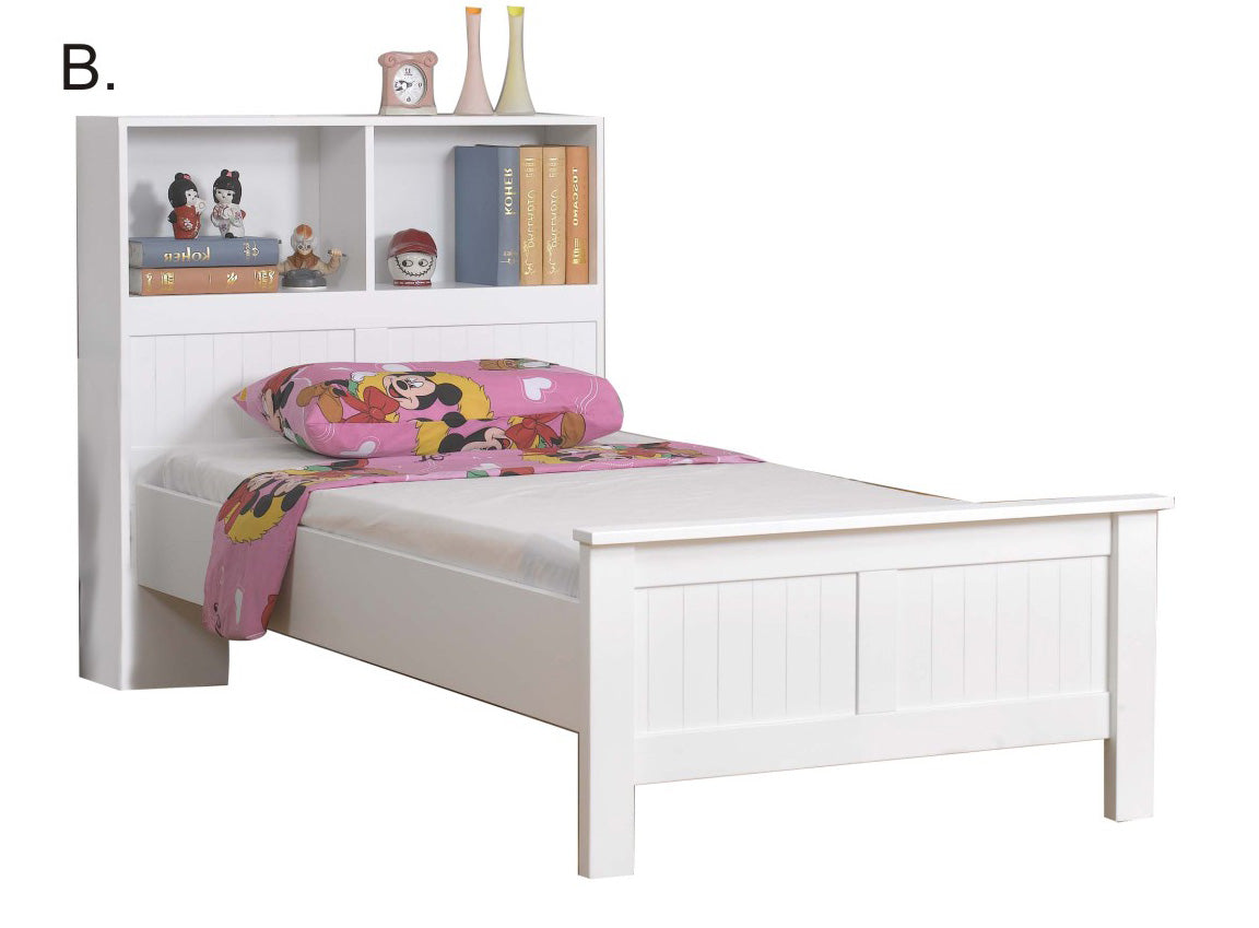 Angel single bed with bookshelf