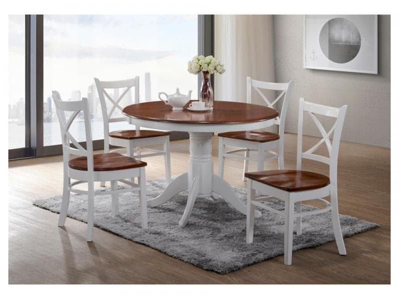 Crossback Dining Suite - 5 Piece (Round)