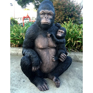 Gorilla and Baby Statue