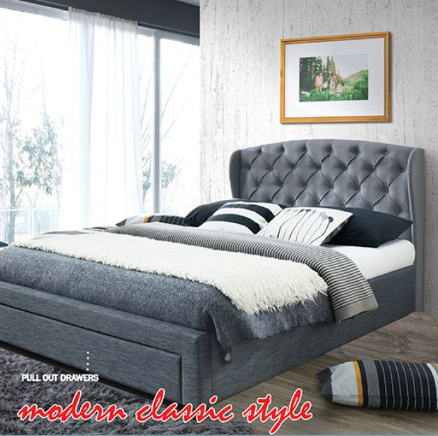 Knightbridge  queen bed frame