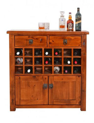 Napier Wine Rack - 2 Drawer Small