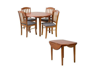 Simpson Drop Dining Table - 5 Piece
