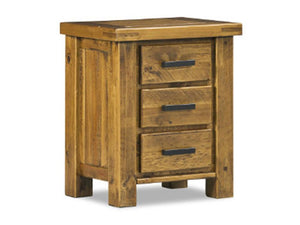Woolbarn Bedside Table - 3 Drawer