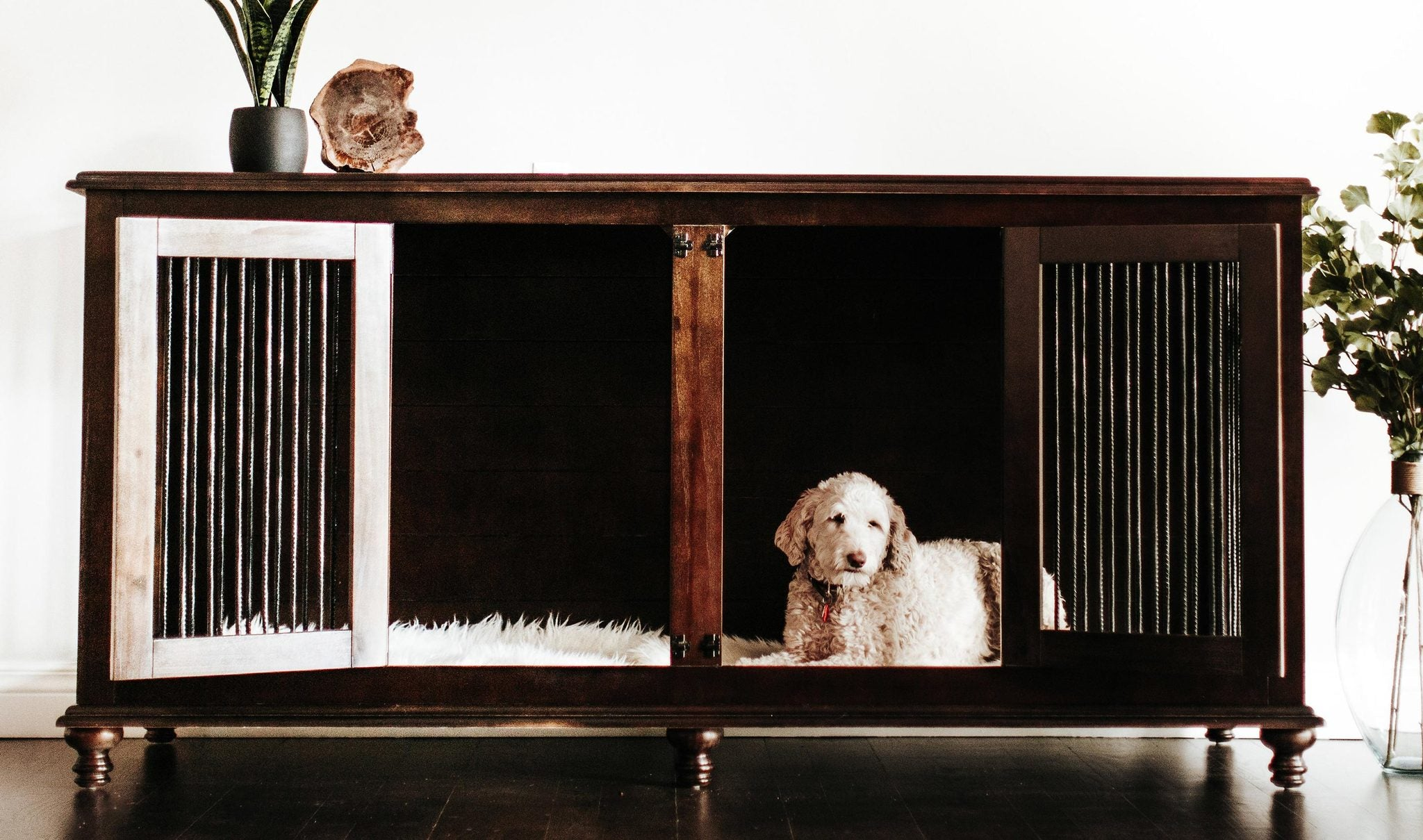 Rathman & Co. | Extra-Large Double Doggie Den® in Brown