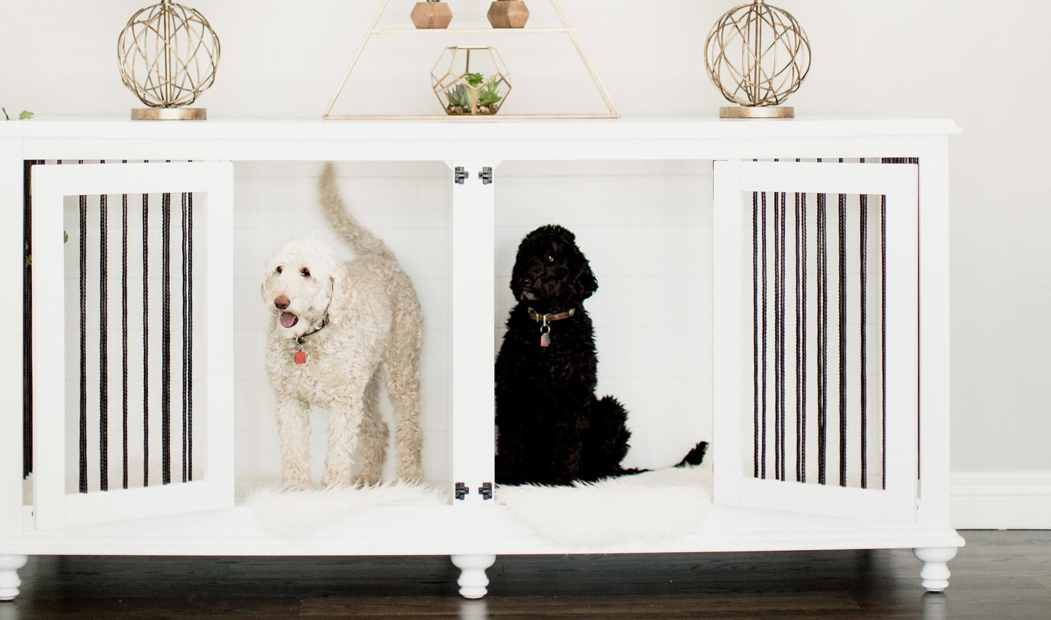 Rathman & Co. | Extra-Large Double Doggie Den® in White