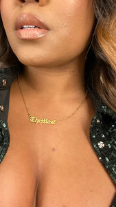 TheMost Nameplate Necklace