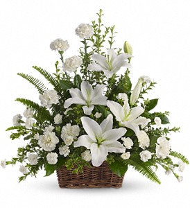 "FA 3206 Stunning ""Accents in White"" Basket, send your love!"