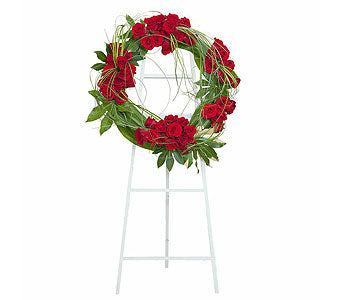 FW 3871 Special tribute live floral wreath