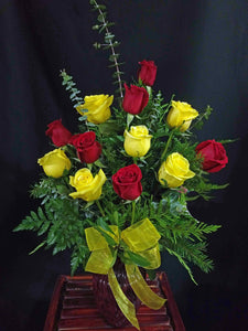 EA 1228 Rosy sunrise, splendid yellow and red roses