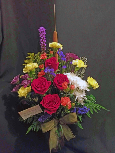 EA 1227 Stylish mix flowers with cattail