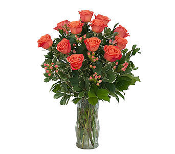EA 1237 Orange explosion rose bouquet