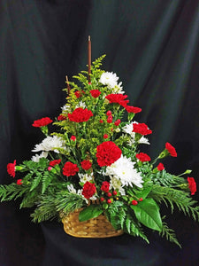 EA 1266 Blast of red and white in a basket