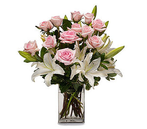 EAV 2003  Subtly Stunning Pink Roses and Lilies