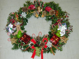"XW 3129 Grandious! 34"" wreath. choose your occasion style XMas or other celebration or sympathy memory wreath."