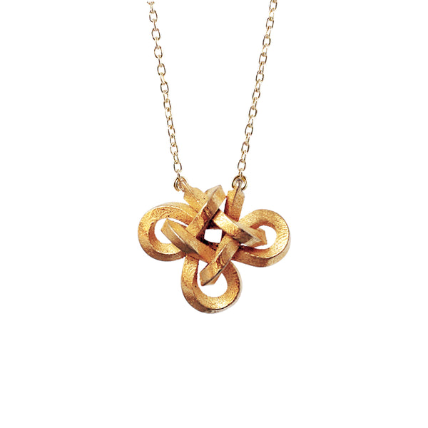 Charmed knot necklaces - stainless steel
