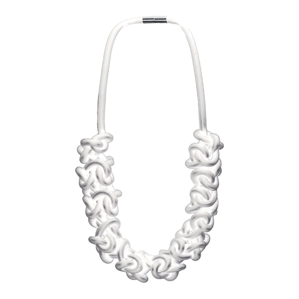 Rubber neckpieces, white