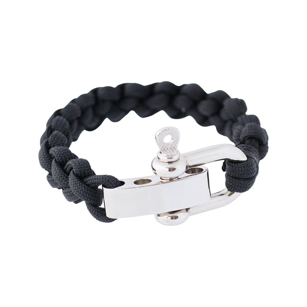 Shackle cuff bracelets in black