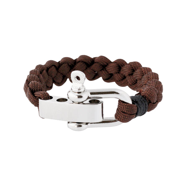Shackle cuff bracelets in brown