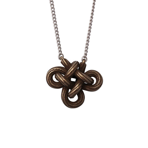 Charmed Knot Necklace, limited edition rope profile
