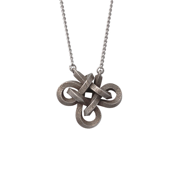 Charmed Knot Necklace, limited edition square profile