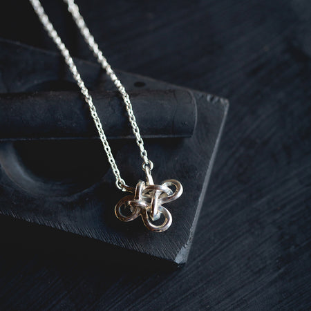 Collector's knot necklace