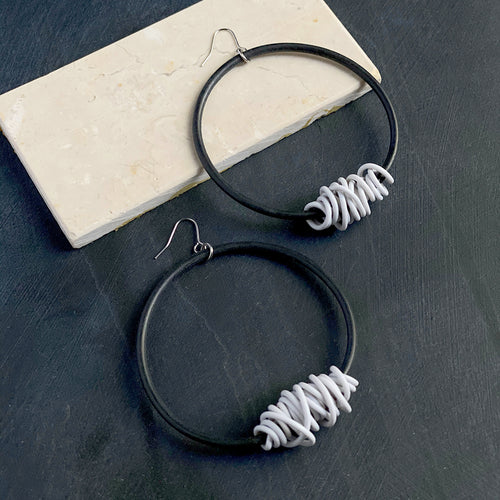 Tangle hoop earring
