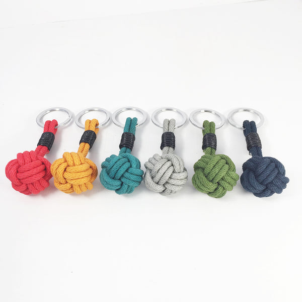 Nautical Knot Keyring - various colours